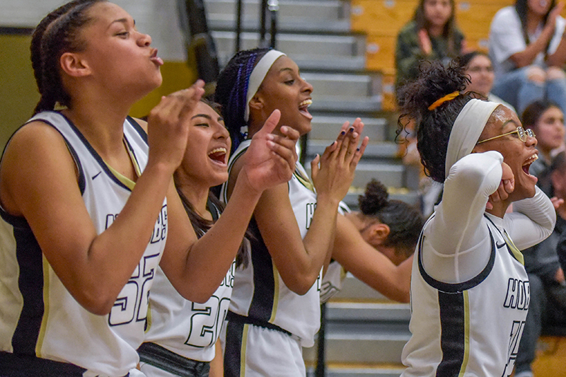 This is the image for the news article titled Girls Basketball on Roll